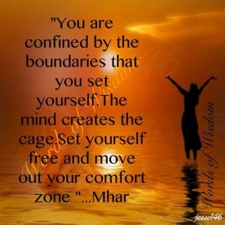 Move out of your comfort zone