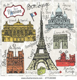 paris-landmark-lettering-set-vintage-hand-drawn-doodle-sketchy-french-words-good-travel-hello-notre-277130300