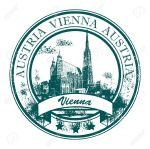 vienna stamp-with-St-Stephen-s-Cathedral-and-the-word-Vienna-Austria-inside-Stock-Vector